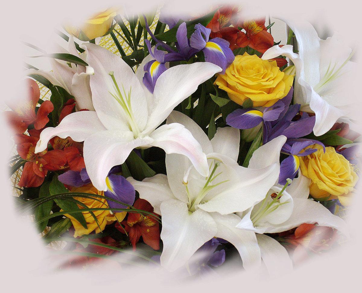 Красивые картинки для любимой девушки с добрым утром с лилиями, определенной дате