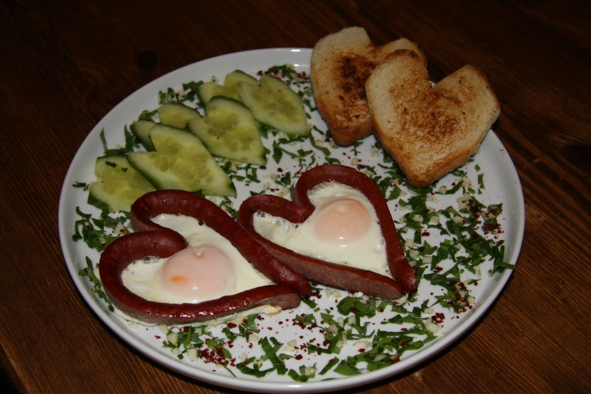 завтрак любимому мужу картинки цветовая гамма позволяет