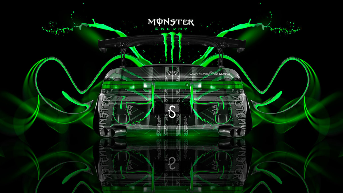 Monster Energy Toyota Mark2 JZX90 JDM Back Super