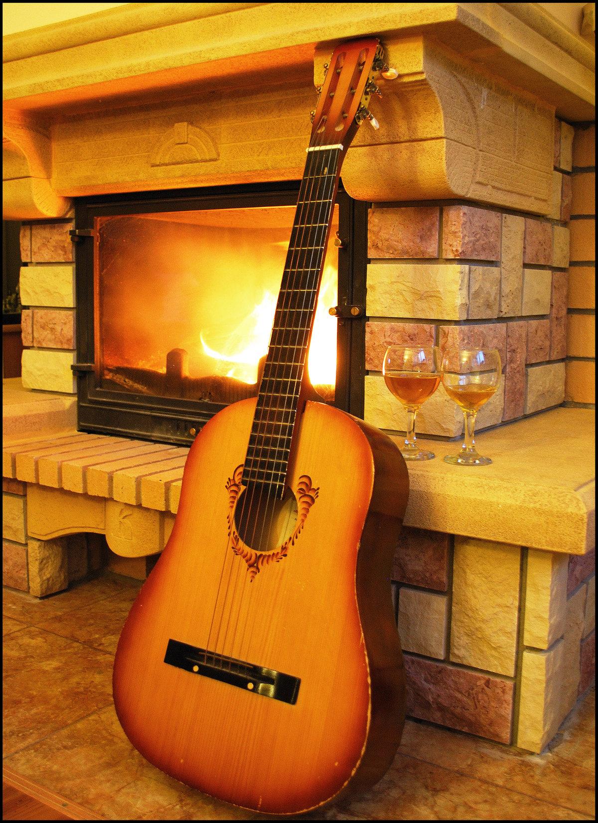 Днем, открытки гитара