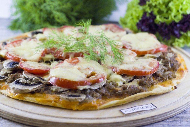 пицца с фаршем в домашних условиях рецепт с фото