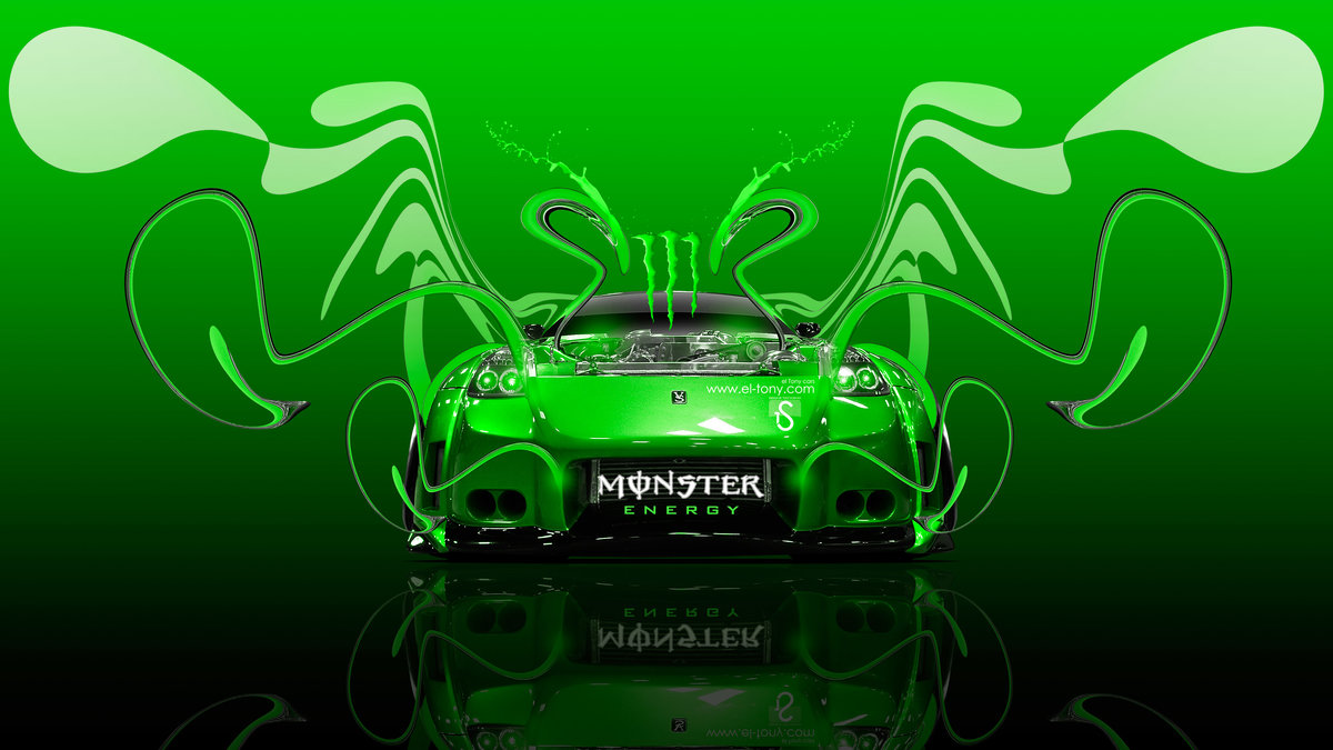 Superb Monster Energy Nissan 350Z VeilSide Open Engine JDM