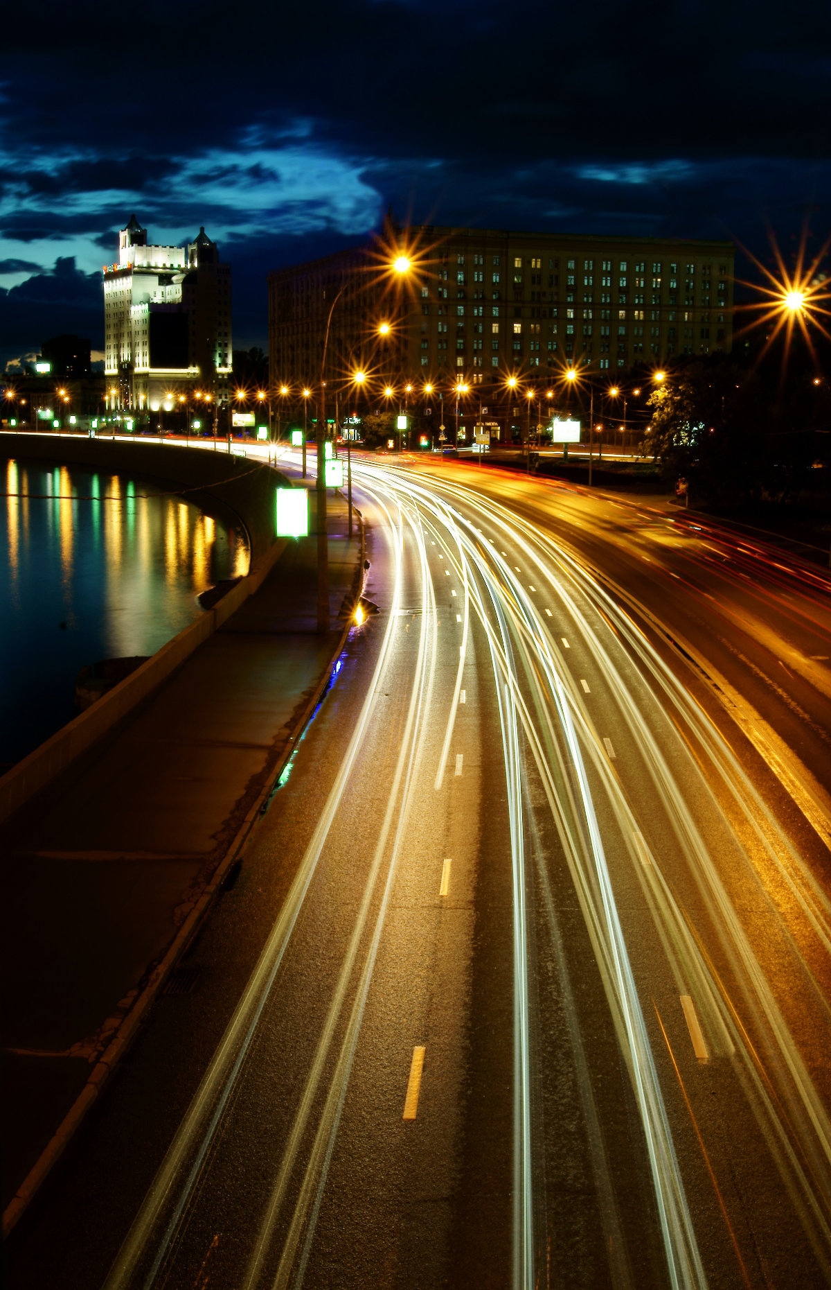 фото москва ночная дорога шерсть