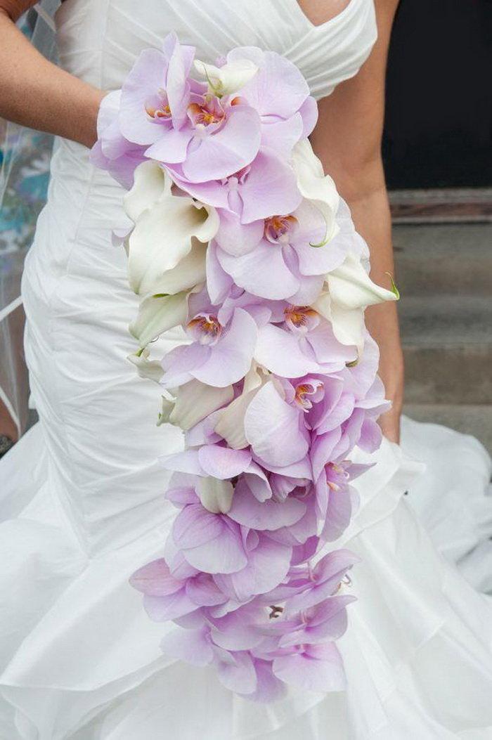 Для свидетельницы, букет из орхидей на свадьбу фото
