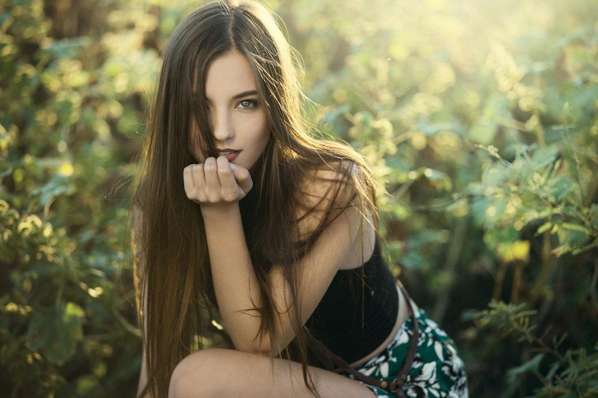 милые девушки на природе фотосессия - 13