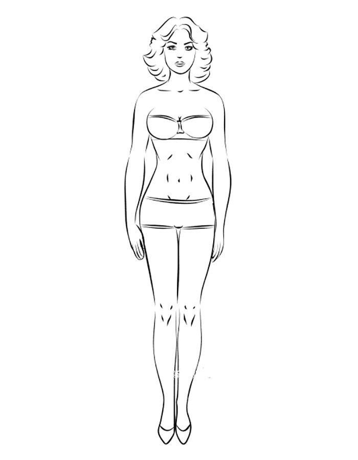 Девушка во весь рост карандашом
