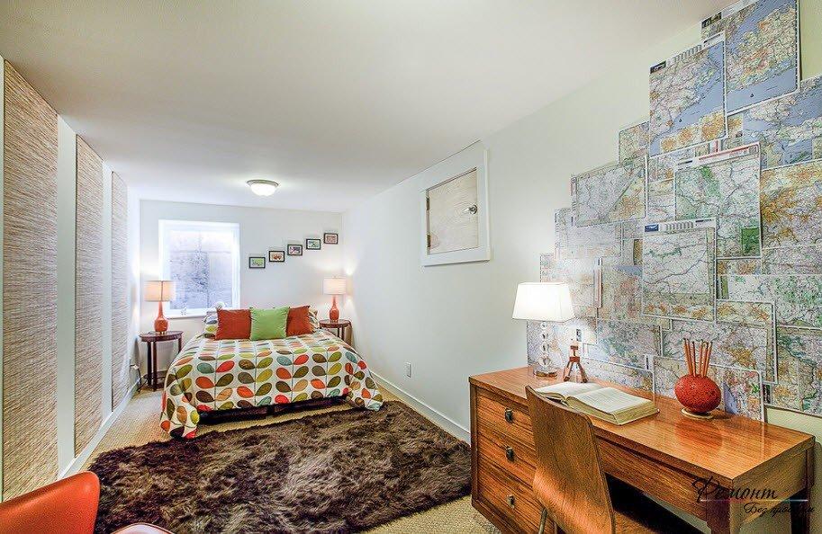 обои география на стену в интерьере фото внешний вид возможность