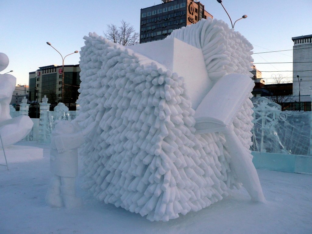 фото фигур из снега своими руками типа