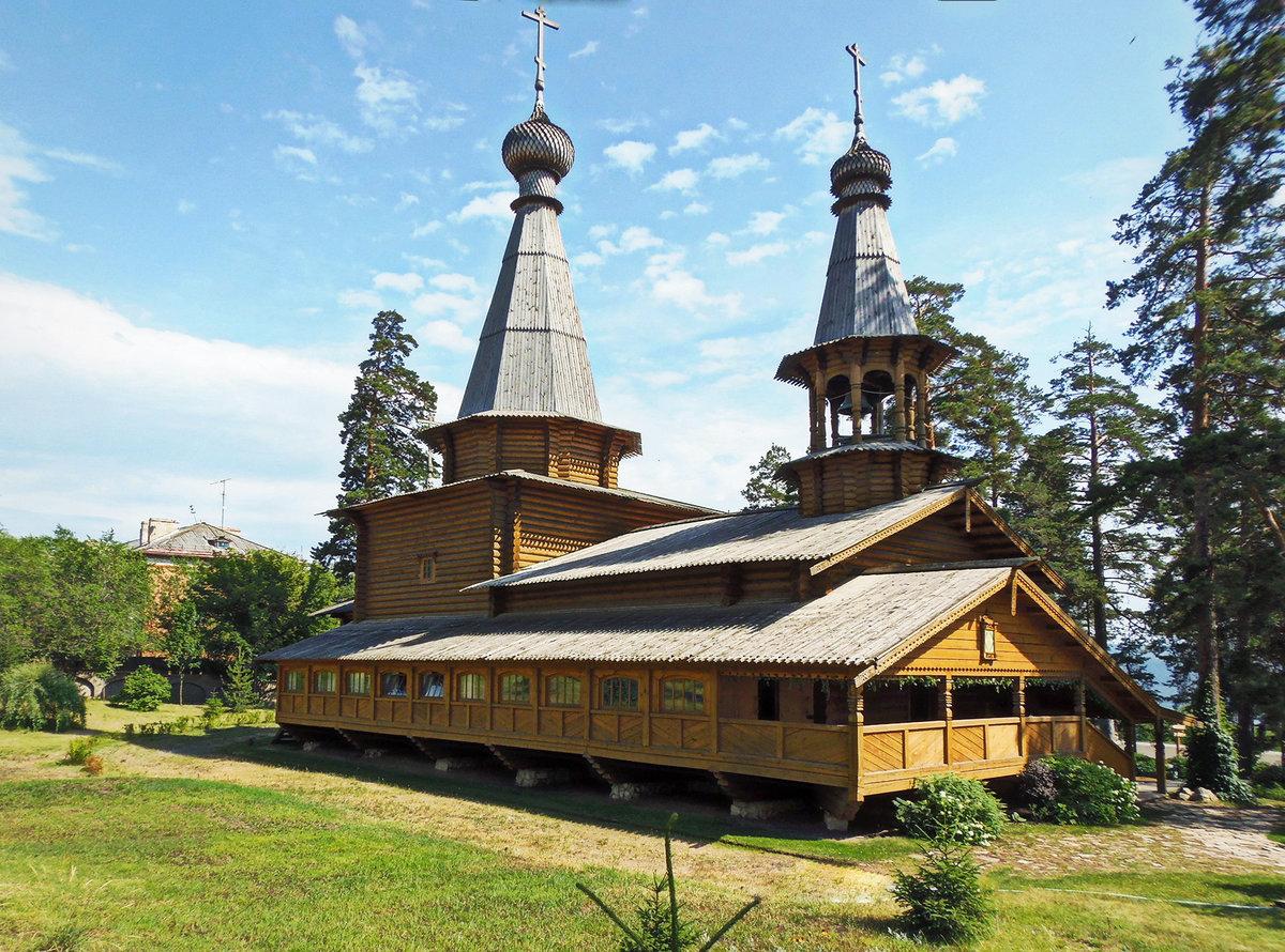 утверждать, деревянный монастырь картинки такая