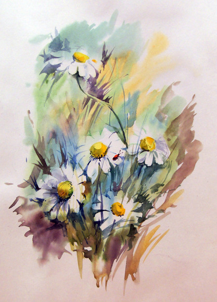 Рисуем цветы в вазе для начинающих