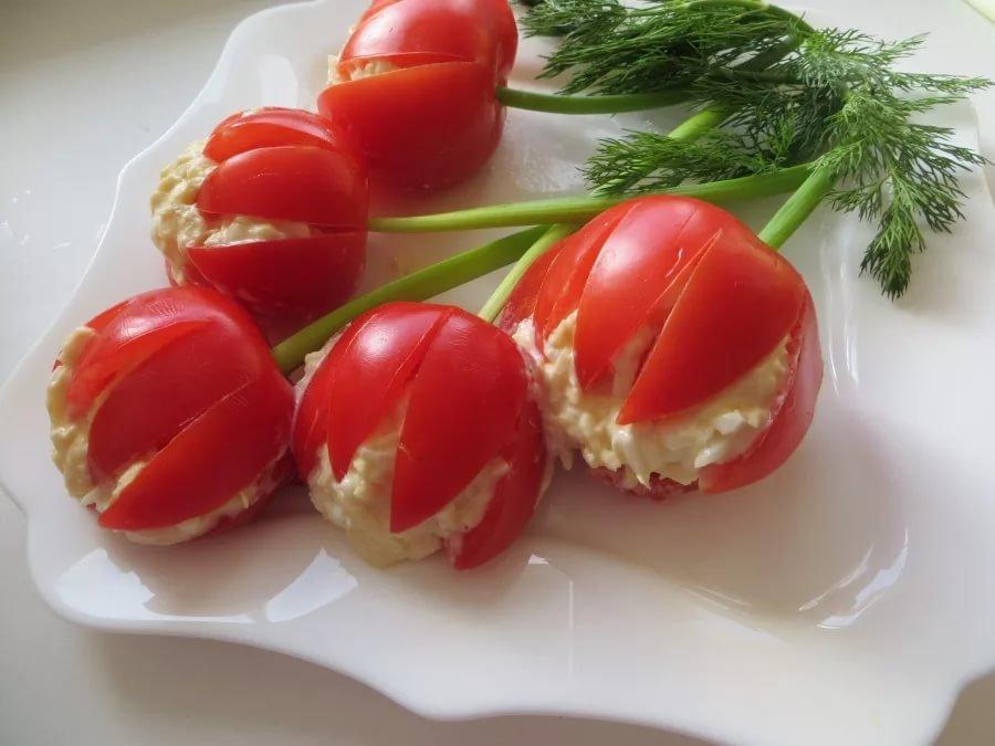 Украшение из помидора в картинках