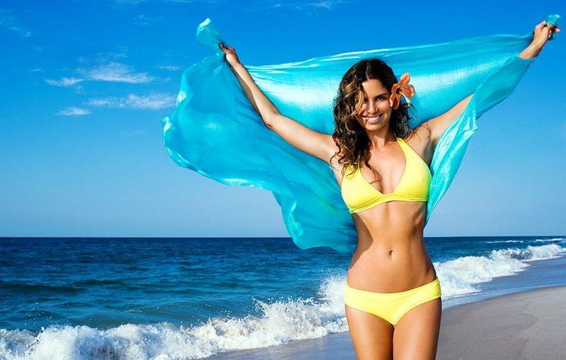 Жизнь прикольные, картинки девушки на пляже в турции