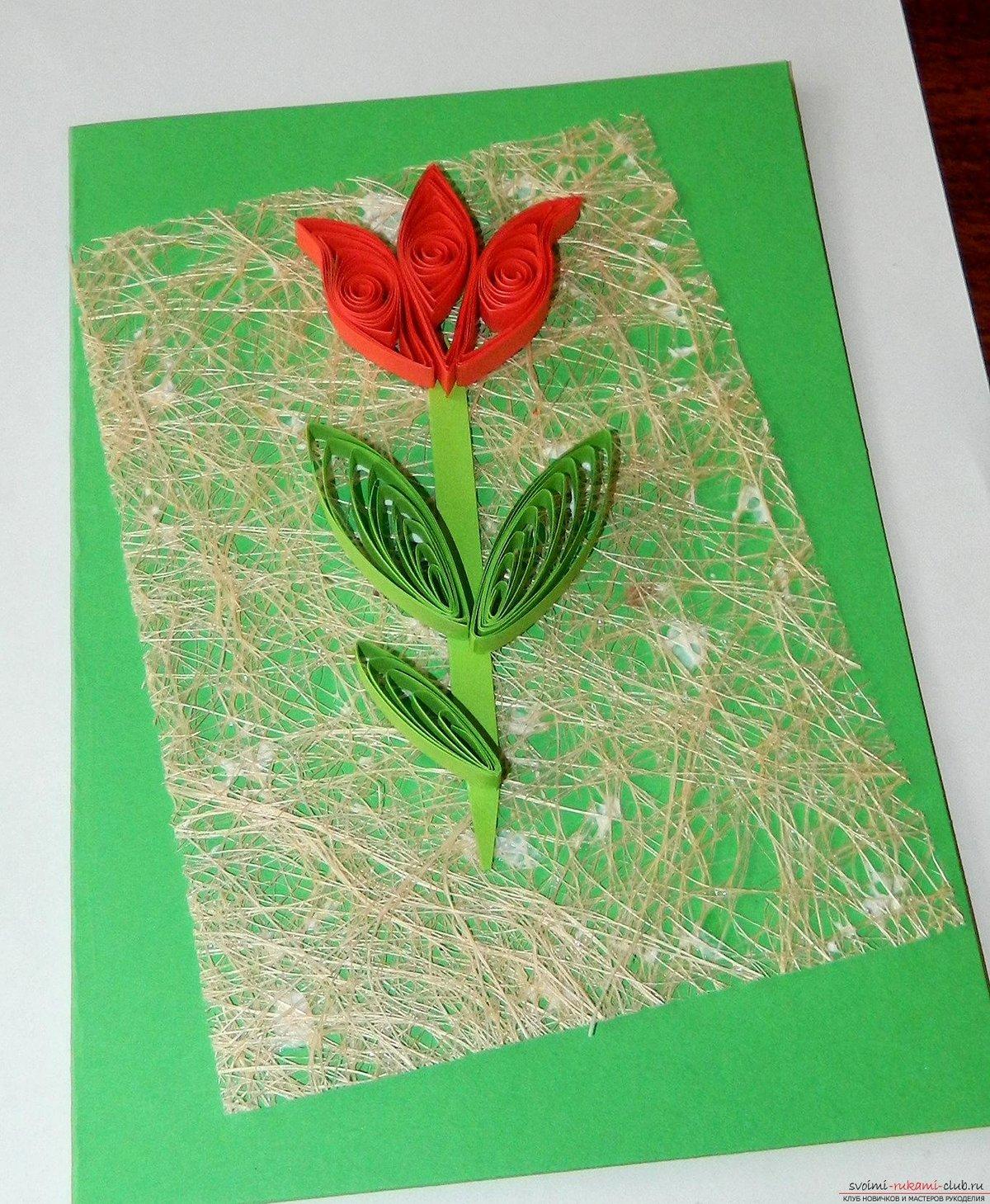 Года дня, декоративная открытка на 8 марта