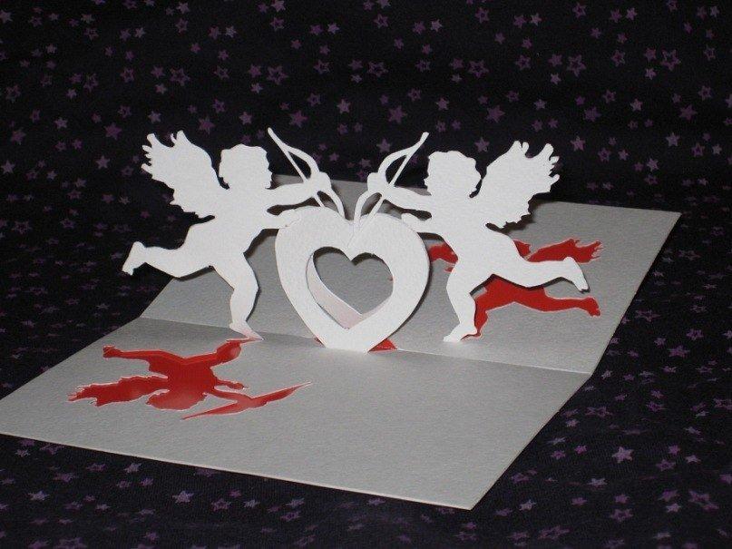 объемные открытки с ангелочками нужно