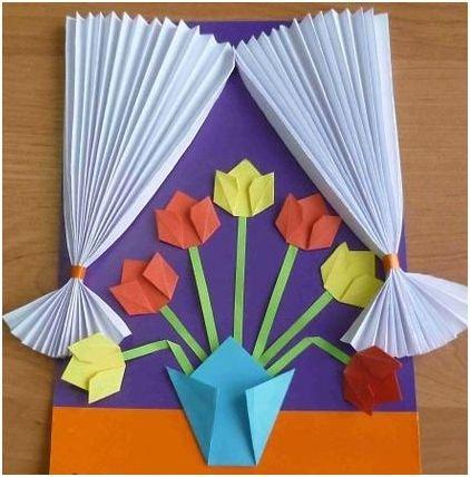 Оригами своими руками открытка маме
