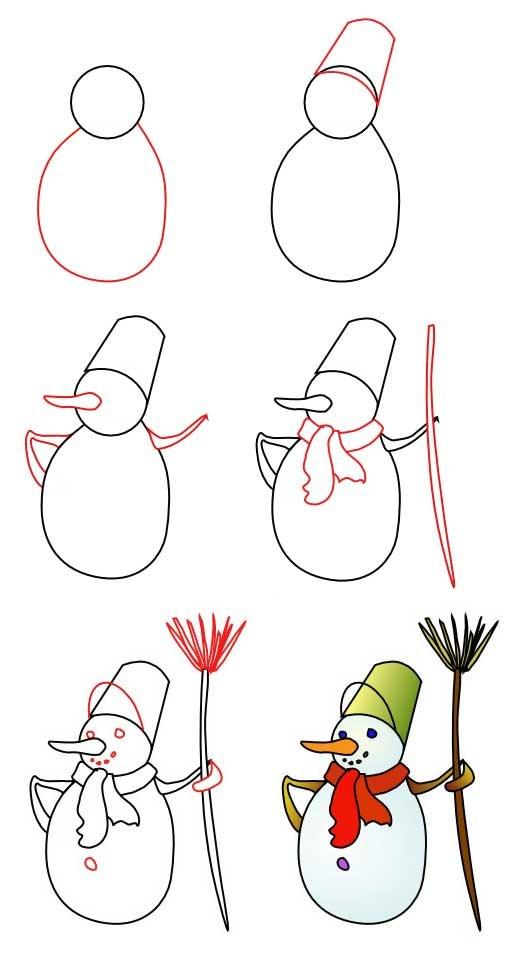 Рождественские картинки нарисовать поэтапно, красивые кальяном