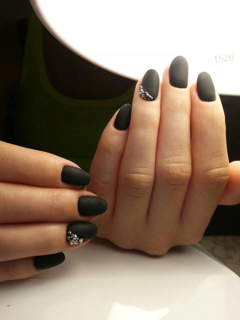Ногти Длинные Миндалевидные С Рисунком