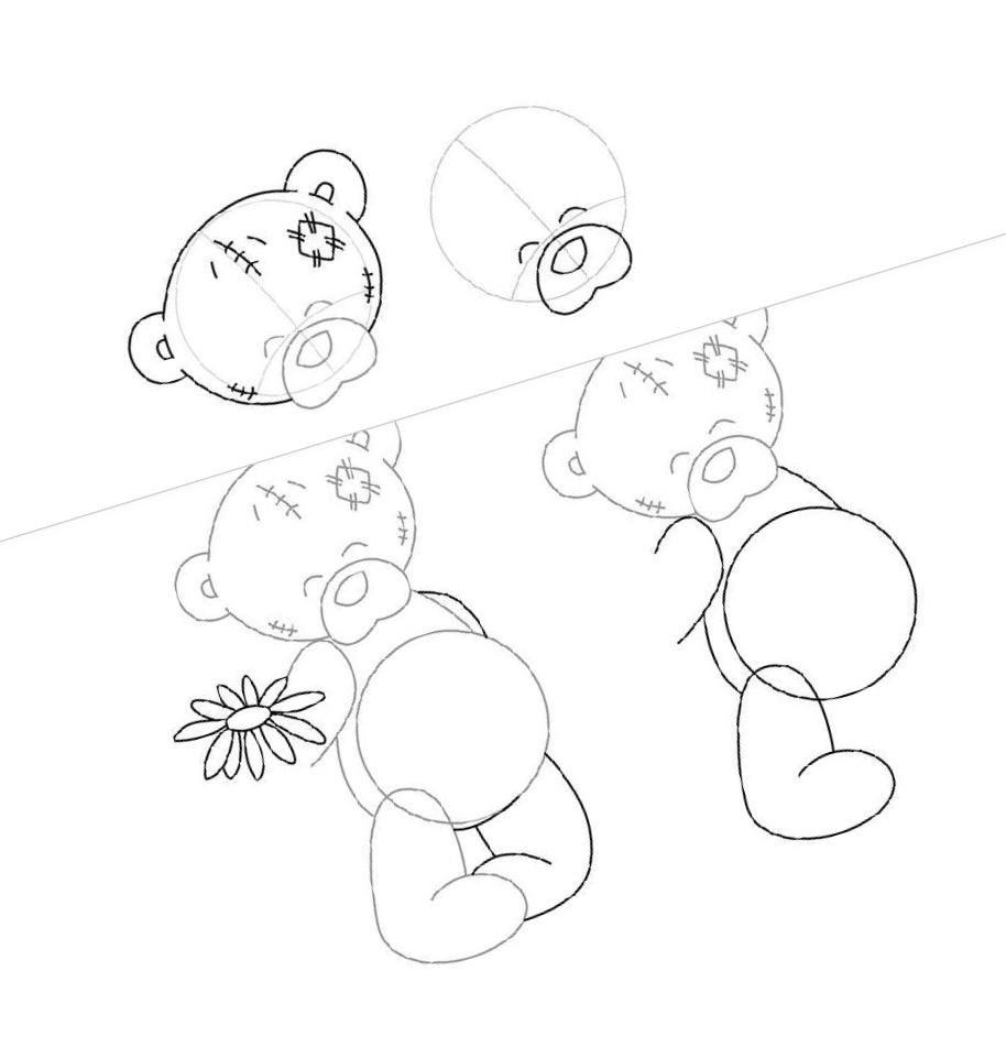поэтапное рисование карандашом открытки бета-хгч