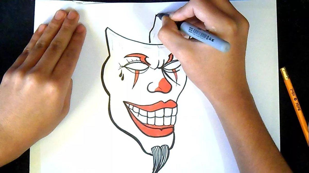 Прикольные рисунки маркером на бумаге для начинающих