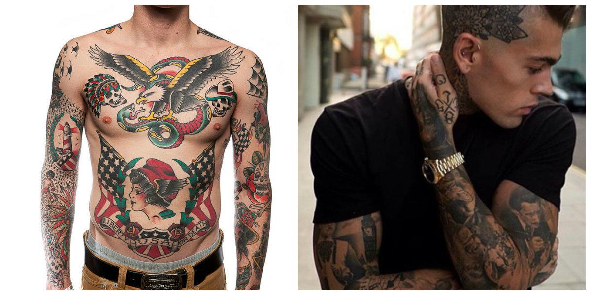Los Tatuajes Old School Estadounidenses O Los Tatuaje Tradicional