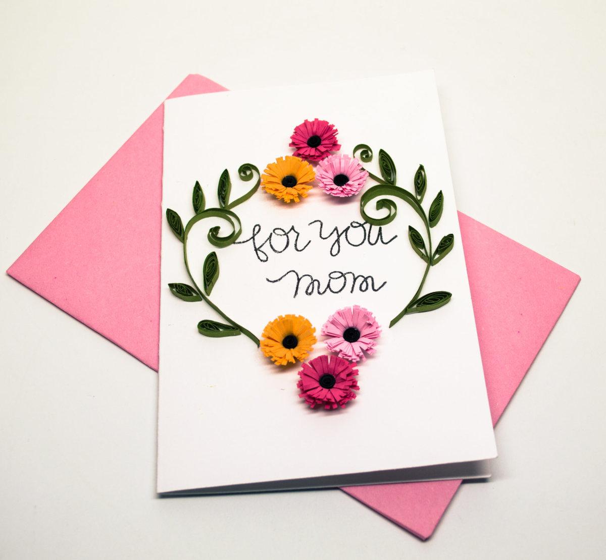Как можно красиво оформить открытку на день рождения маме, днем рождения