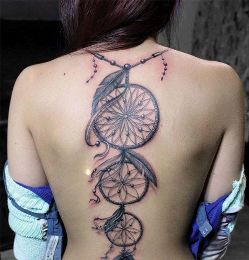 Stunning Full Back Tattoo Design For Girls Card From User