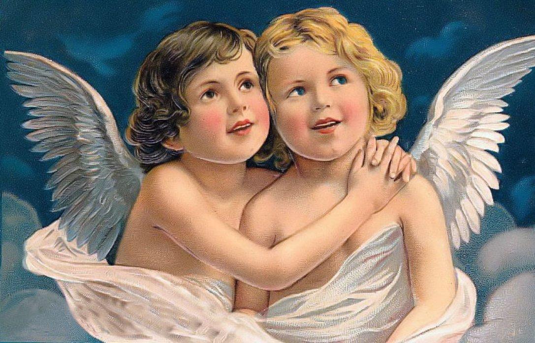 Ангелы открытка, яблочный спас украинском