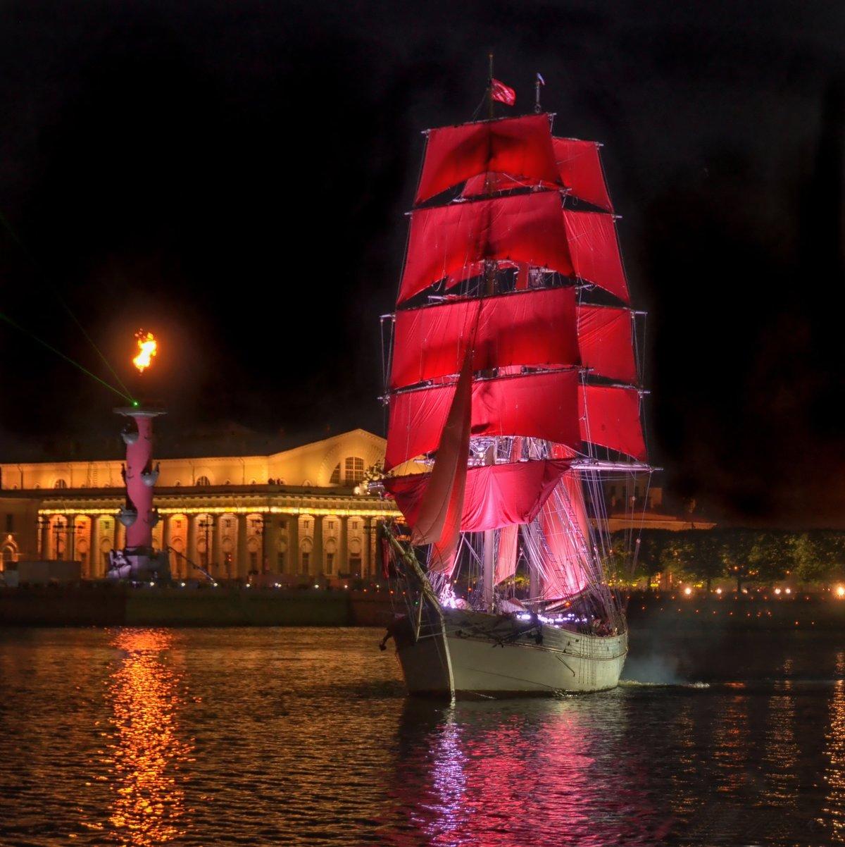 создать по-настоящему фото корабля из алых парусов отметить, что светодиодные