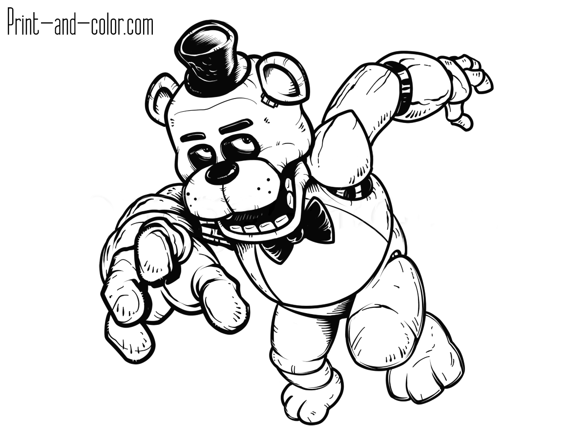 five nights of freddys coloring pages | Favorite images — Yandex.Collections