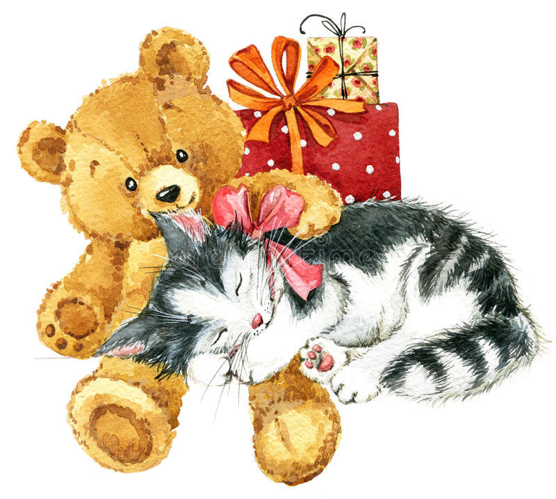Прикольные, открытки с медвежатами и котятами
