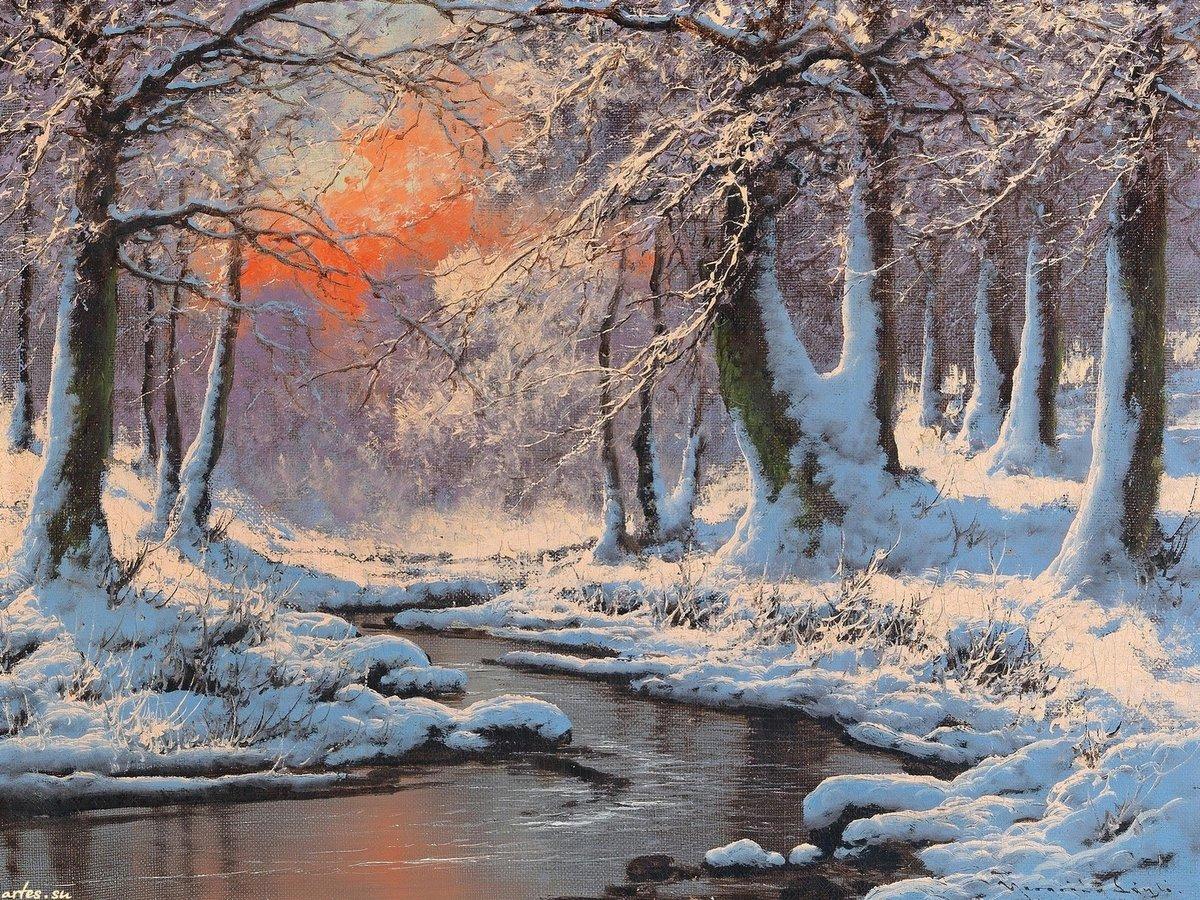 постер с зимним пейзажем достаточно быстро вышла