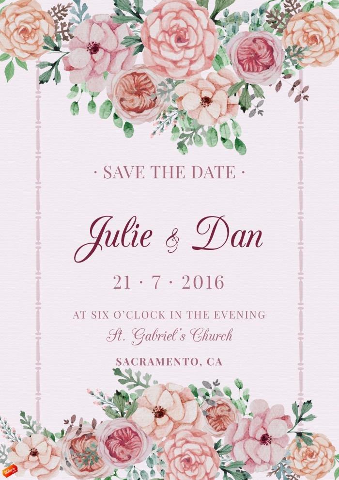 Шаблон свадебного приглашения в ворде