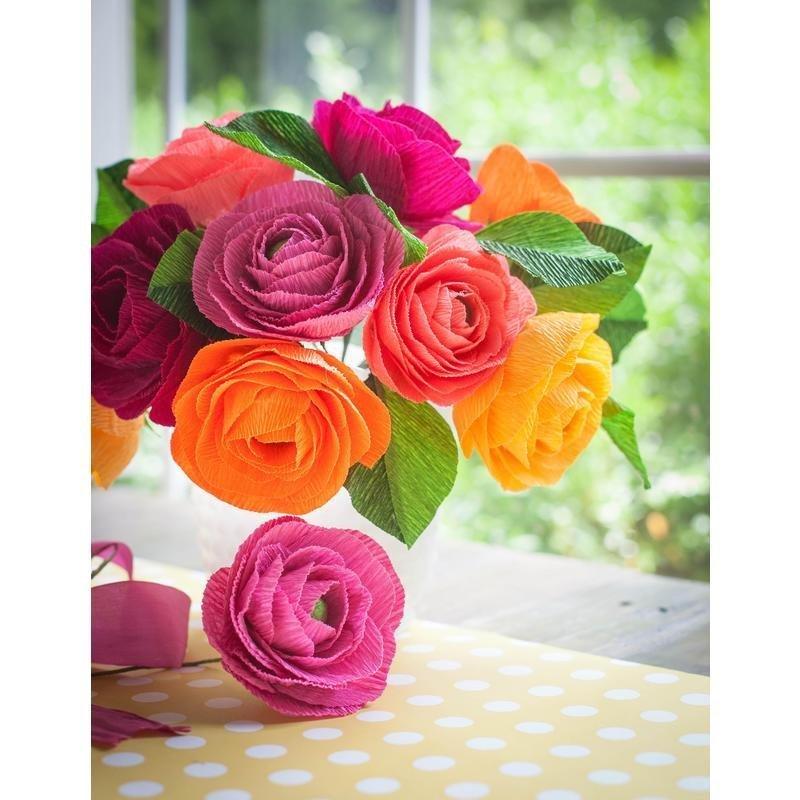 Магазин, цветы из креппбумаги своими руками