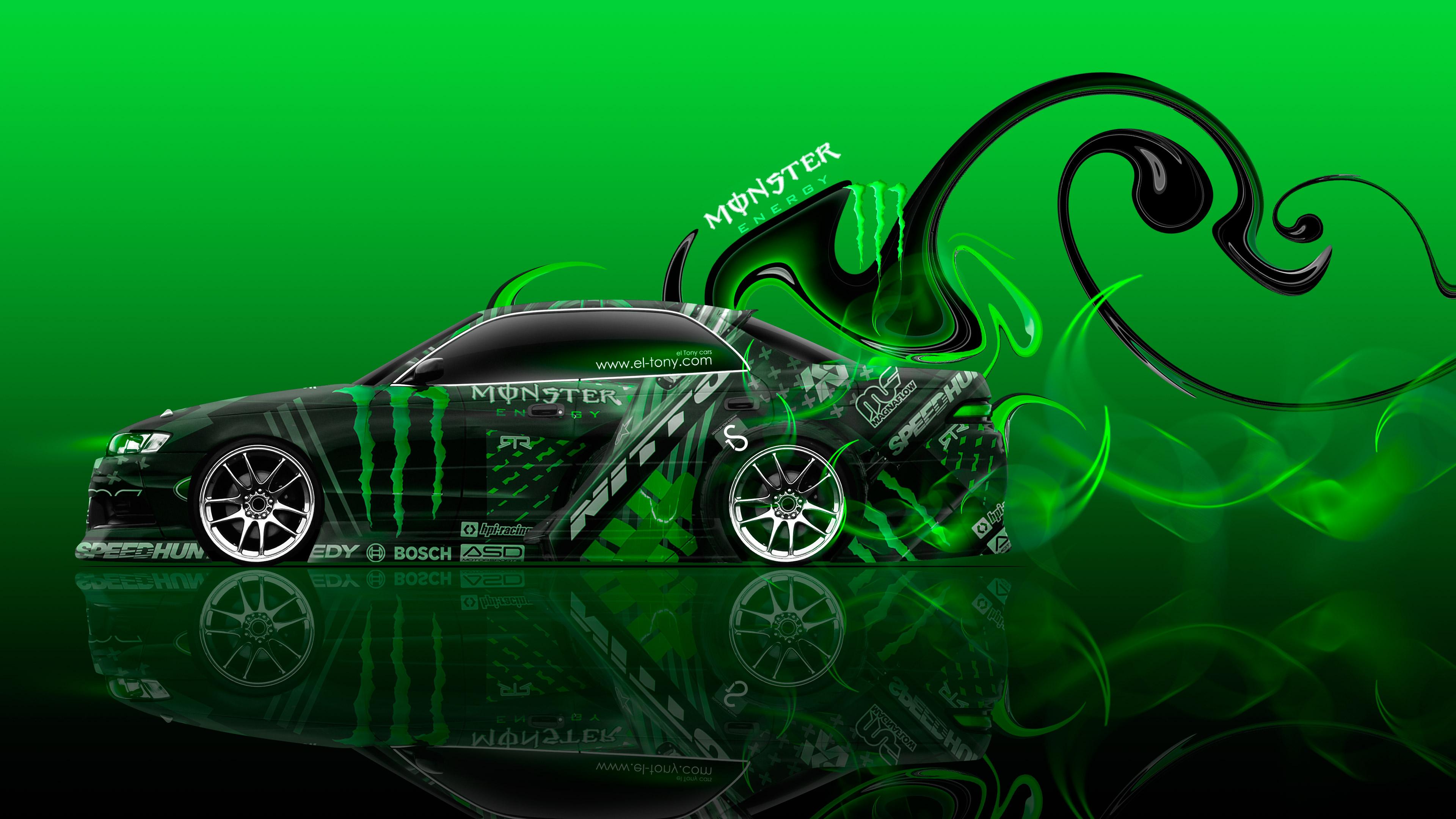 Elegant Monster Energy Toyota Mark2 JZX90 JDM Side Plastic Car 2015 Green ...