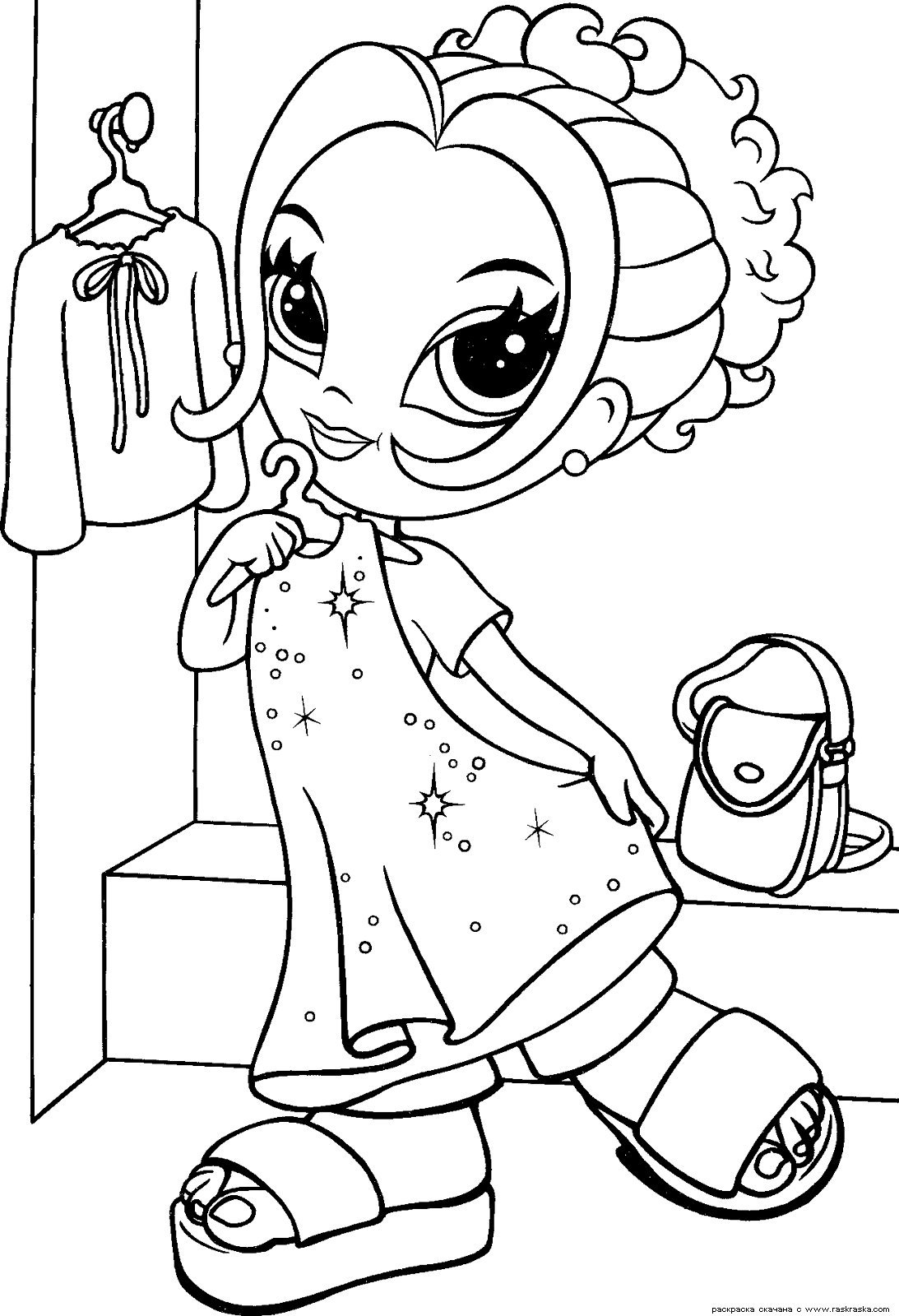 «Гламурная девочка » Раскраски для детей. Распечатать ...