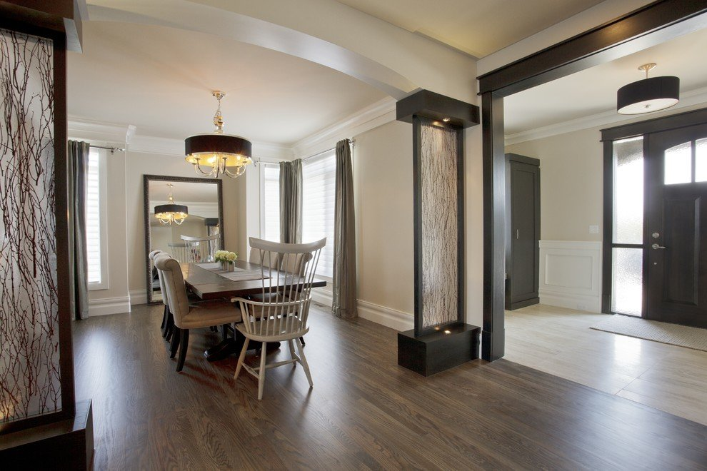 Room Divider Ideas Dining Transitional With Accent Lighting Arch Entryway