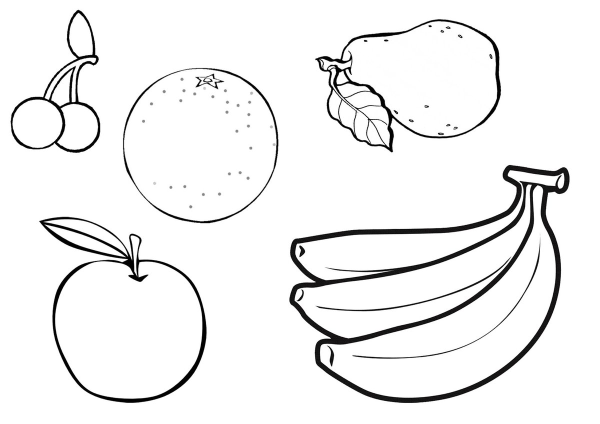 quot Coloring Page Of Fruit Bowl coloring page of fruit bowl