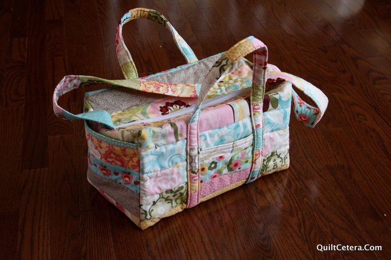 Детская розово-голубая сумка пэчворк.