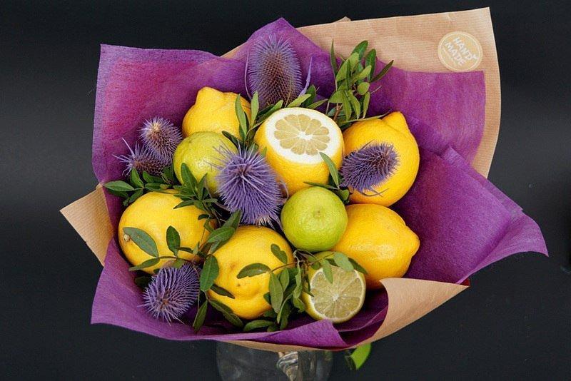 Разные, букет из лимонов как сделать