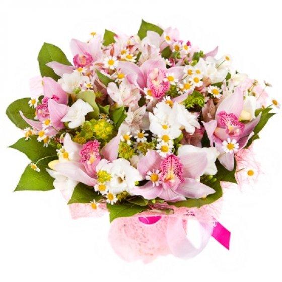 Доставкой цветов, донецк букет орхидея фото