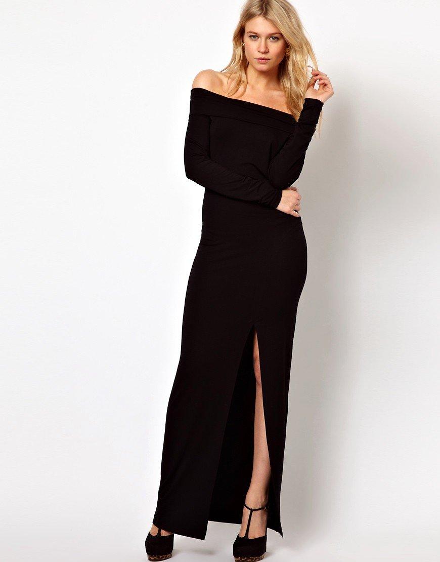 платье в пол с открытыми плечами фото слой юбки украшен