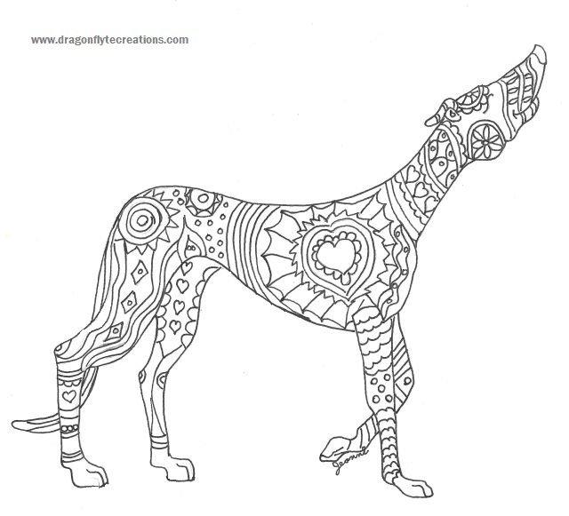 «Антистресс раскраска длинная собака» — карточка ...