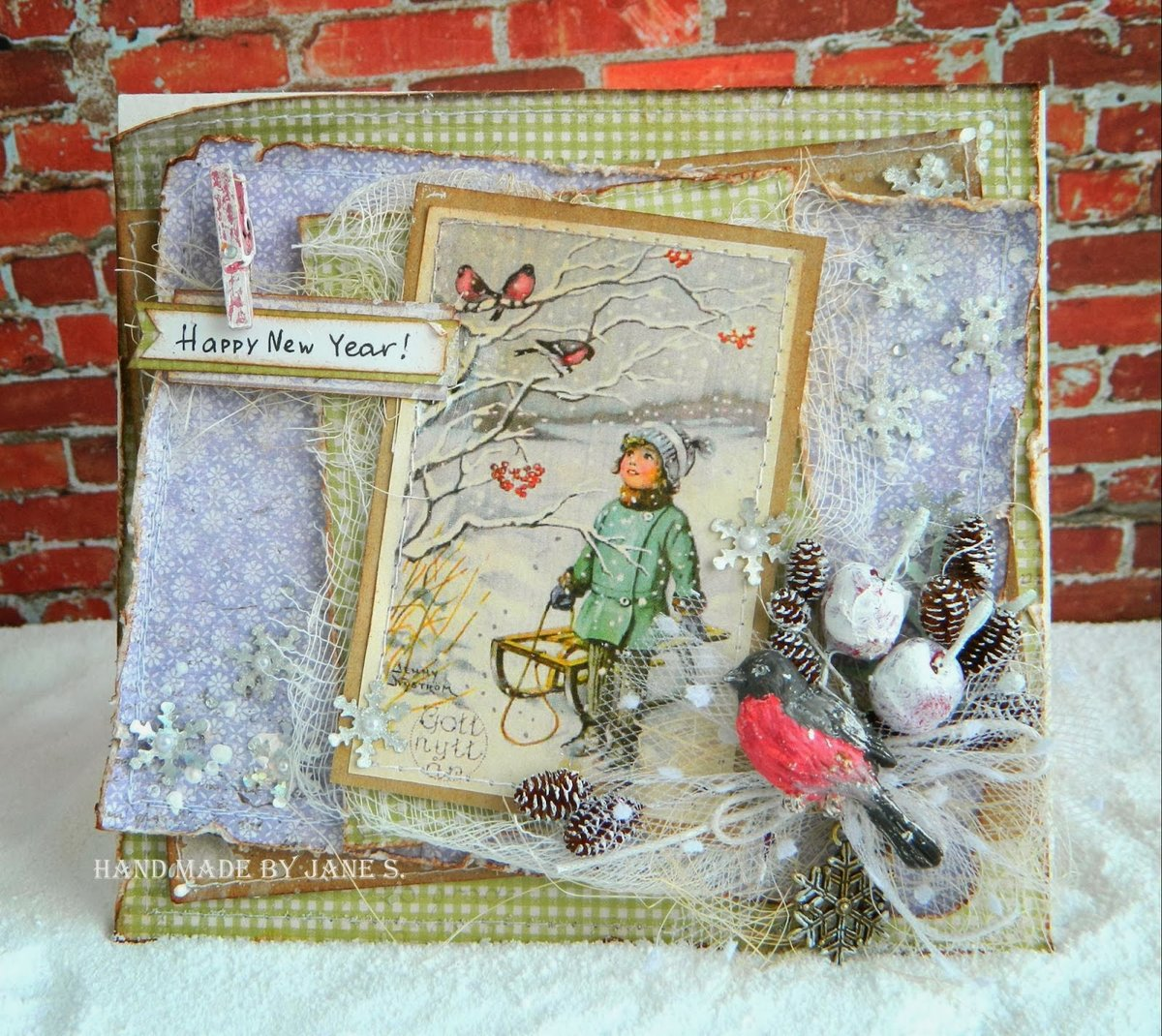 Открытки, открытки скрапбукинг фото новый год