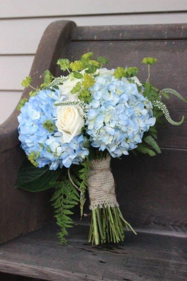 Креативный букет с гортензией фото, роскошные свадебные