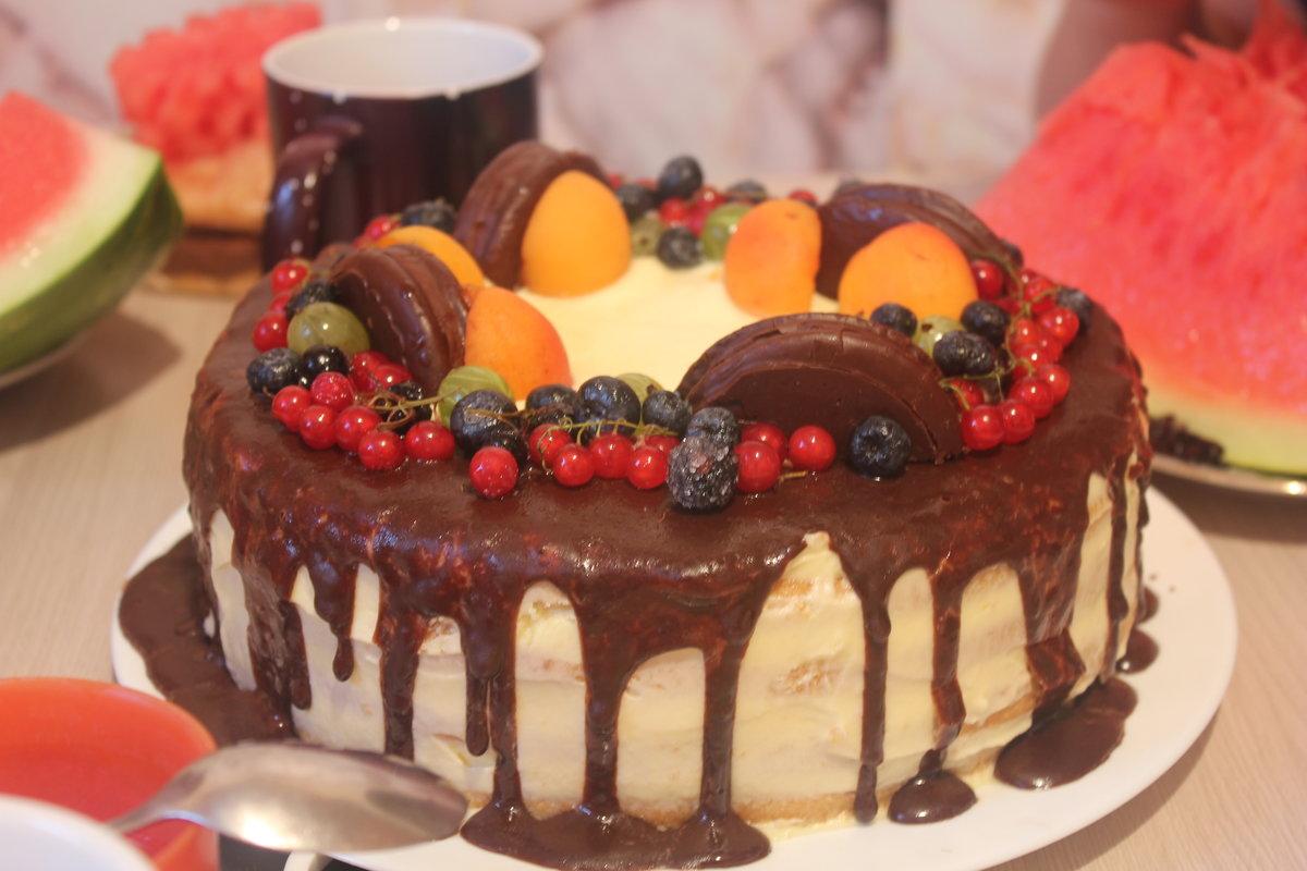Торт на день рождения маме рецепт с фото своими руками