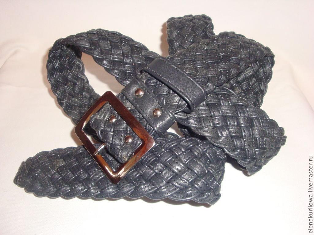 Плетеный ремень своими руками фото 309