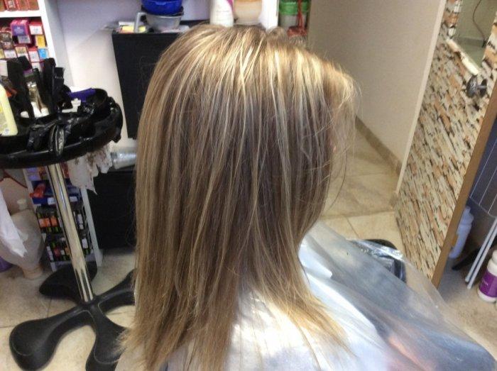 Мелирование русых волос светлыми прядями