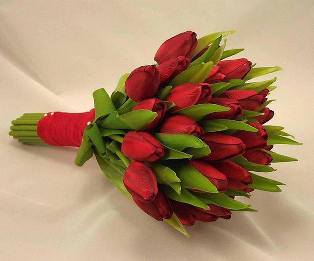 Букет из 40 тюльпанов фото, букет войковской