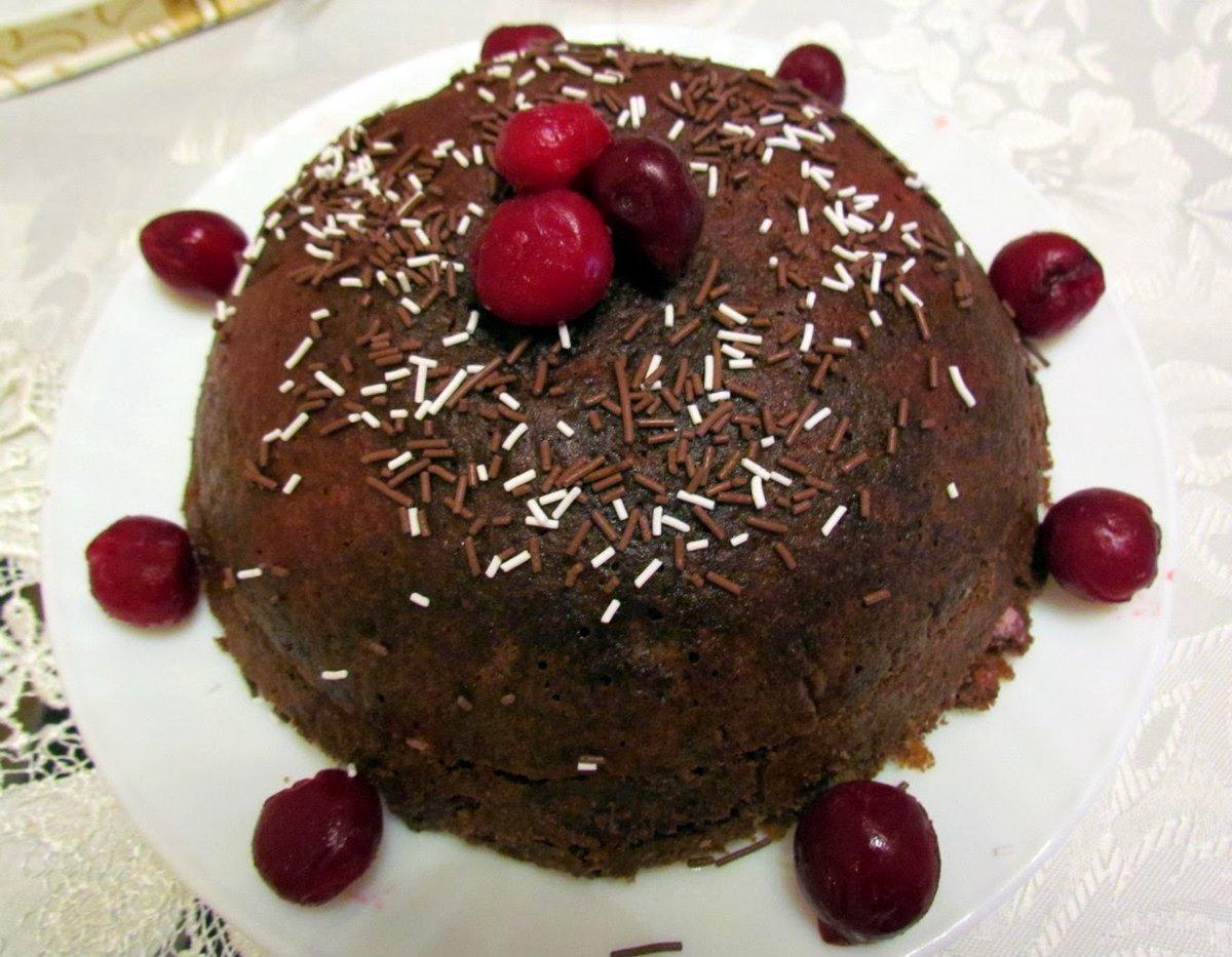 шоколадный торт сзамороженными вишнями рецепт с фото-хв10
