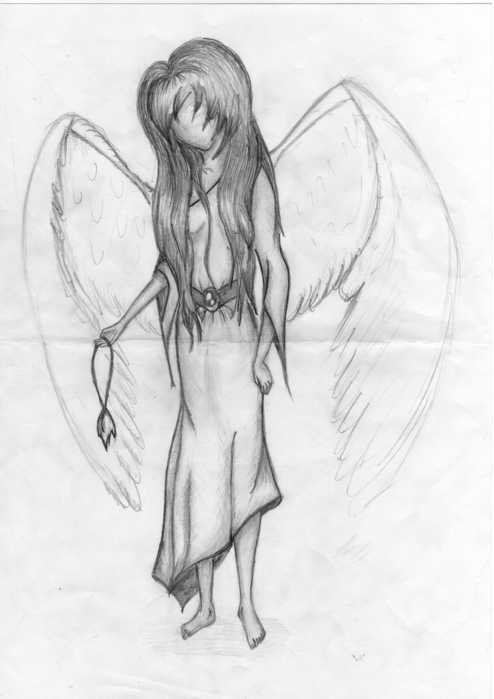 Красивые картинки карандашом легкие ангелы